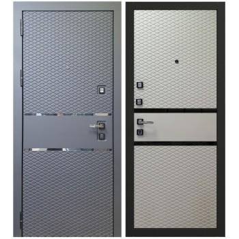 Входная металлическая дверь Берсеркер Шумоизолирующая ACOUSTIC X 73 в цвете Черный кварц / Софт белый |Полотно 92 мм, Металл 1.2 мм, Вес 102 кг (Товар № ZF224693)