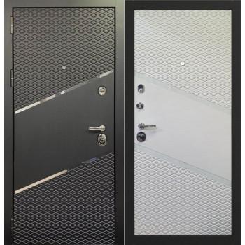 Входная металлическая дверь Берсеркер Шумоизолирующая ACOUSTIC X 74 в цвете Графит нубук / Софт белый |Полотно 92 мм, Металл 1.2 мм, Вес 102 кг (Товар № ZF224694)