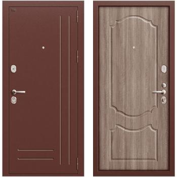 Входная металлическая дверь Браво Р2-210 в цвете Антик Медь / П-1 (Темный Орех) |Полотно 96 мм, Металл 1.5 мм, Вес 82 кг