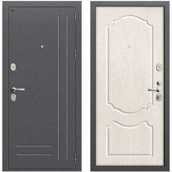 Входная металлическая дверь Браво Р2-210 в цвете Антик Серебро / П-25 (Беленый Дуб) |Полотно 96 мм, Металл 1.5 мм, Вес 82 кг