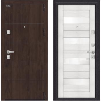Входная металлическая дверь Браво Porta M 4.П23 в цвете Almon 28 / Bianco Veralinga |Полотно 98 мм, Металл 1.2 мм, Вес 101 кг