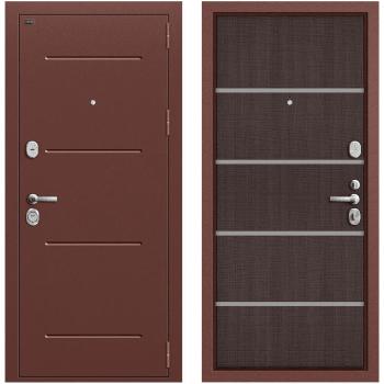 Дверь стальная Т2-204 New в цвете Антик Медь/Wenge Crosscut.
