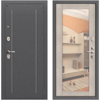 Дверь стальная Т2-220 New в цвете Антик Серебро/Cappuccino Veralinga.