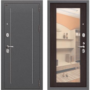 Дверь стальная Т2-220 New в цвете Антик Серебро/Wenge Veralinga.