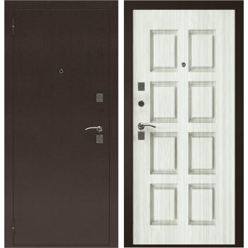Входная металлическая дверь Берсеркер Уличная TEPLER 102 в цвете Антик медный / Сандал белый |Полотно 70 мм, Металл 1.2 мм, Вес 106 кг (Товар № ZF194424)