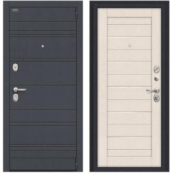 Входная металлическая дверь Браво Сканди в цвете П-37 (Graphite Wood) / Cappuccino Softwood |Полотно 92 мм, Металл 1.5 мм, Вес 74 кг (Товар № ZF59021)