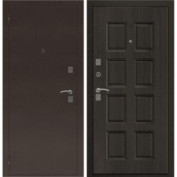 Входная металлическая дверь Берсеркер Уличная TEPLER 101 в цвете Антик медный / Венге |Полотно 70 мм, Металл 1.2 мм, Вес 106 кг (Товар № ZF194404)