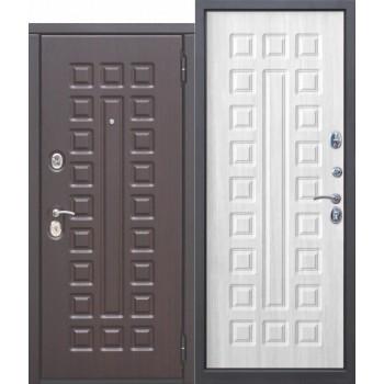 Входная металлическая дверь Феррони Монарх в цвет Венге / Белый ясень |Полотно 10 см, Металл 1.4 мм, Вес 87 кг (Товар № ZF111517)