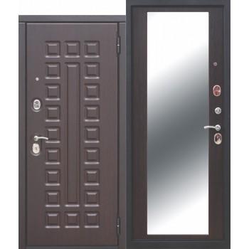 Входная металлическая дверь Феррони Монарх Зеркало в цвете Венге / Венге |Полотно 10 см, Металл 1.4 мм, Вес 92 кг (Товар № ZF111519)