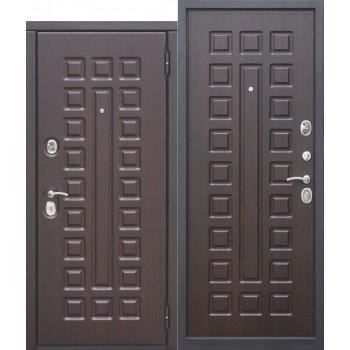 Входная металлическая дверь Феррони Монарх в цвет Венге / Венге |Полотно 10 см, Металл 1.4 мм, Вес 87 кг (Товар № ZF111517)