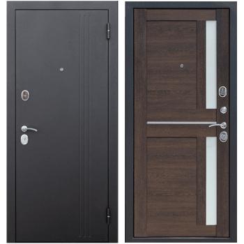 Входная металлическая дверь Феррони Нью-Йорк в цвете Чёрный муар / Каштан мускат Царга |Полотно 7,5 см, Металл 1.4 мм, Вес 69 кг (Товар № ZF165705)