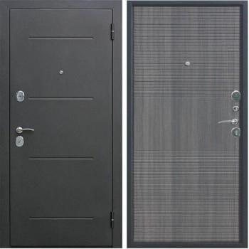 Входная металлическая дверь Феррони Гарда в цвете Чёрный муар / венге тобакко |Полотно 7,5 см, Металл 1.4 мм, Вес 62 кг (Товар № ZF104386)