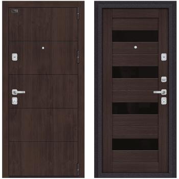 Входная металлическая дверь Браво Porta M 4.П23 в цвете Almon 28 / Wenge Veralinga |Полотно 98 мм, Металл 1.2 мм, Вес 101 кг