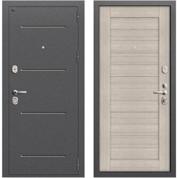 Дверь стальная Т2-221 New в цвете Антик Серебро/Cappuccino Veralinga.