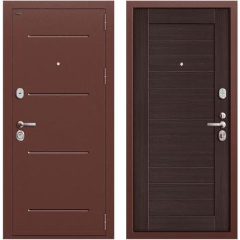 Дверь стальная Т2-221 New в цвете Антик Медь/Wenge Veralinga.