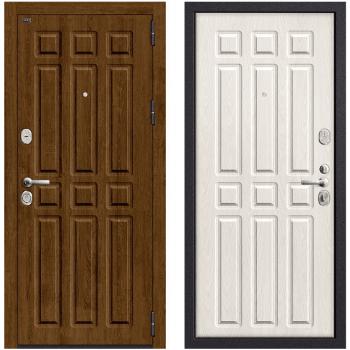 Входная металлическая дверь Браво Р3-315 в цвете П-26 (Французский Дуб) / П-25 (Беленый Дуб) |Полотно 108 мм, Металл 1.5 мм, Вес 90 кг