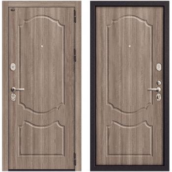 Входная металлическая дверь Браво Р3-310 в цвете П-1 (Темный Орех) / П-1 (Темный Орех) |Полотно 108 мм, Металл 1.5 мм, Вес 97 кг