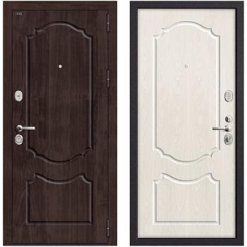 Входная металлическая дверь Браво Р3-310 в цвете П-28 (Темная Вишня) / П-25 (Беленый Дуб) |Полотно 108 мм, Металл 1.5 мм, Вес 97 кг