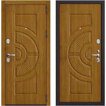 Входная металлическая дверь Браво Р3-312 в цвете П-4 (Золотой Дуб) / П-4 (Золотой Дуб) |Полотно 108 мм, Металл 1.5 мм, Вес 90 кг