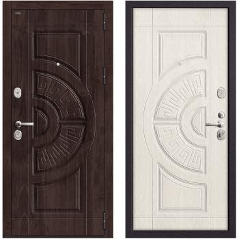 Входная металлическая дверь Браво Р3-312 в цвете П-28 (Темная Вишня) / П-25 (Беленый Дуб) |Полотно 108 мм, Металл 1.5 мм, Вес 97 кг