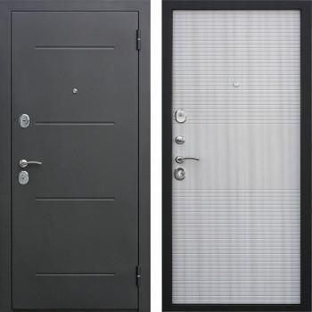 Входная металлическая дверь Феррони Гарда в цвете Чёрный муар / белый ясень |Полотно 7,5 см, Металл 1.4 мм, Вес 62 кг (Товар № ZF104385)