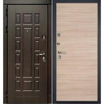 Входная металлическая дверь HAUSDOORS ProfilDoors HD3/1Z Капучино Кроскут |Полотно 100 мм, Металл 1.5 мм  (Товар № ZA190821)