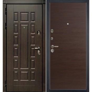 Входная металлическая дверь HAUSDOORS ProfilDoors HD3/1Z Венге Кроскут |Полотно 100 мм, Металл 1.5 мм  (Товар № ZA190822)