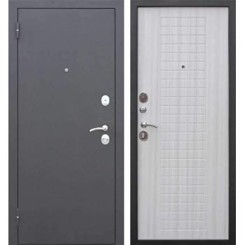 Входная металлическая дверь Феррони Гарда Муар 8мм в цвете Чёрный муар / Белый ясень |Полотно 6 см, Металл 1.2 мм, Вес 63 кг (Товар № ZF165719)