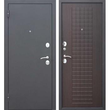Входная металлическая дверь Феррони Гарда Муар 8мм в цвете Чёрный муар / Венге |Полотно 6 см, Металл 1.2 мм, Вес 63 кг (Товар № ZF165720)