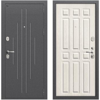 Входная металлическая дверь Браво Р2-215 в цвете Антик Серебро / П-25 (Беленый Дуб) |Полотно 96 мм, Металл 1.5 мм, Вес 82 кг