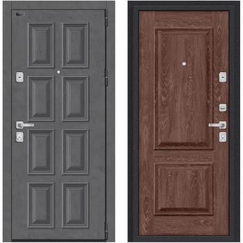 Входная металлическая дверь Браво Porta M К18.K12 в цвете Rocky Road / Chalet Grande |Полотно 98 мм, Металл 1.2 мм, Вес 94 кг