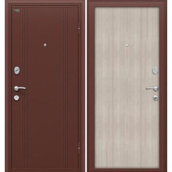 Входная металлическая дверь Браво Door Out 201 в цвете Антик Медь / Cappuccino Veralinga |Полотно 66 мм, Металл 0.8 мм, Вес 82 кг  (Товар №  ZF10678)
