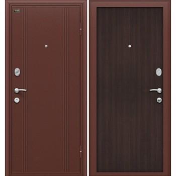 Входная металлическая дверь Браво Door Out 201 в цвете Антик Медь / Wenge Veralinga |Полотно 66 мм, Металл 0.8 мм, Вес 82 кг (Товар №  ZF10694)