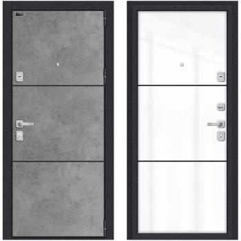 Входная металлическая дверь Браво Porta M П50.П50 в цвете Dark Concrete / Angel |Полотно 101 мм, Металл 1.2 мм, Вес 101 кг (Товар № ZF190744)