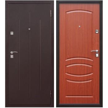 Входная металлическая дверь Цитадель Стройгост 7-2 в цвете Медный Антик / Итальянский орех |Полотно 7 см, Металл 1 мм, Вес 35 кг (Товар № ZF104431)