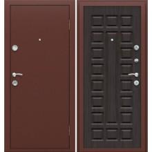 Входная дверь Йошкар П-09 Венге BRAVO Цвет: Антик Медь, Венге  (Товар №  ZF16311)