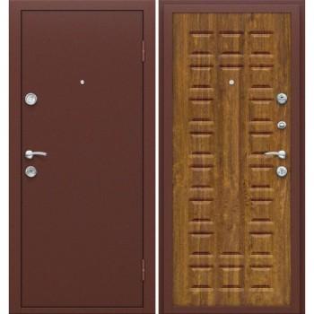 Входная металлическая дверь Браво Йошкар в цвете Антик Медь / П-17 (Золотистый Дуб) |Полотно 68 мм, Металл 1 мм, Вес 54 кг  (Товар №  ZF16309)
