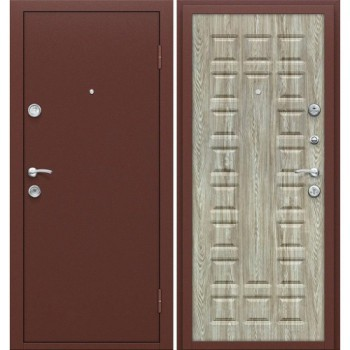Входная металлическая дверь Браво Йошкар в цвете Антик Медь / П-18 (Ель Карпатская) |Полотно 68 мм, Металл 1 мм, Вес 54 кг (Товар №  ZF16310)