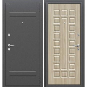 Входная металлическая дверь Браво Нова в цвете Антик Медь / П-34 (Шимо Светлый) |Полотно 70 мм, Металл 1.5 мм, Вес 56 кг (Товар № ZF47325)