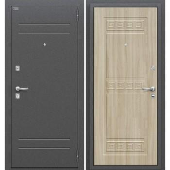 Входная металлическая дверь Браво Трио в цвете Антик Серебро / П-34 (Шимо Светлый) |Полотно 68 мм, Металл 1.5 мм, Вес 60 кг (Товар № ZF111546)