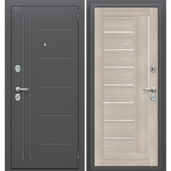 Входная металлическая дверь Браво Проф в цвете Антик Серебро / Cappuccino Veralinga |Полотно 85 мм, Металл 1.5 мм, Вес 65 кг (Товар № ZF58979)