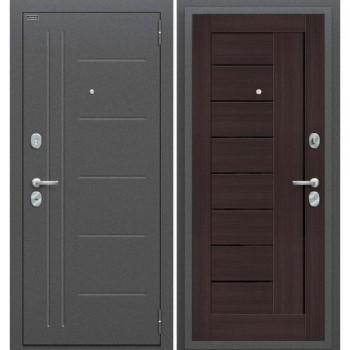 Входная металлическая дверь Браво Проф в цвете Антик Серебро / Wenge Veralinga |Полотно 85 мм, Металл 1.5 мм, Вес 65 кг (Товар № ZF58980)