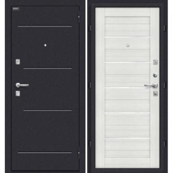 Дверь стальная Техно в цвете Bianco Veralinga/White Waltz остекленная. (Товар № ZF58942)
