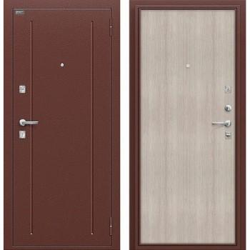 Входная металлическая дверь Браво Норма в цвете Антик Медь / Cappuccino Veralinga |Полотно 66 мм, Металл 1.5 мм, Вес 52 кг (Товар № ZA55651)