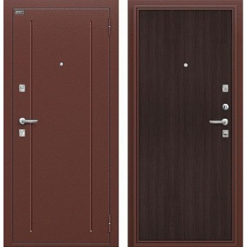 Входная металлическая дверь Браво Норма в цвете Антик Медь / Wenge Veralinga |Полотно 66 мм, Металл 1.5 мм, Вес 52 кг (Товар № ZA55655)