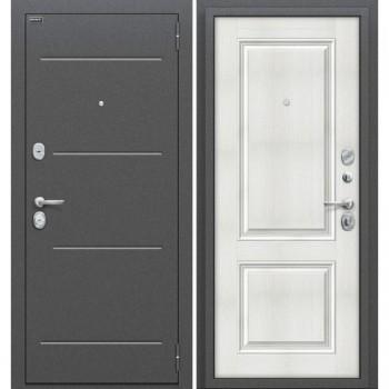 Входная металлическая дверь Браво Стиль в цвете Антик Серебро / Bianco Veralinga |Полотно 80 мм, Металл 1.5 мм, Вес 64 кг (Товар № ZF59024)