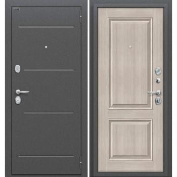 Входная металлическая дверь Браво Стиль в цвете Антик Серебро / Cappuccino Veralinga |Полотно 80 мм, Металл 1.5 мм, Вес 64 кг (Товар № ZF59023)