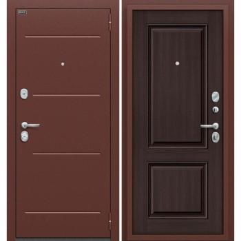 Входная металлическая дверь Браво Стиль в цвете Антик Серебро / Wenge Veralinga |Полотно 80 мм, Металл 1.5 мм, Вес 64 кг (Товар № ZF59028)