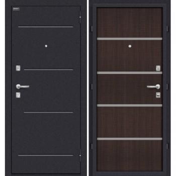 Входная металлическая дверь Браво Лайн в цвете Лунный камень / Wenge Crosscut |Полотно 66 мм, Металл 1.5 мм, Вес 54 кг  (Товар №  ZF20124)
