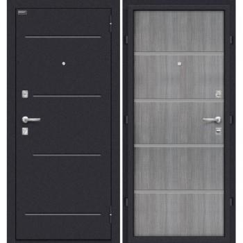 Входная металлическая дверь Браво Лайн в цвете Лунный камень /  Grey Crosscut |Полотно 66 мм, Металл 1.5 мм, Вес 54 кг  (Товар №  ZF20121)